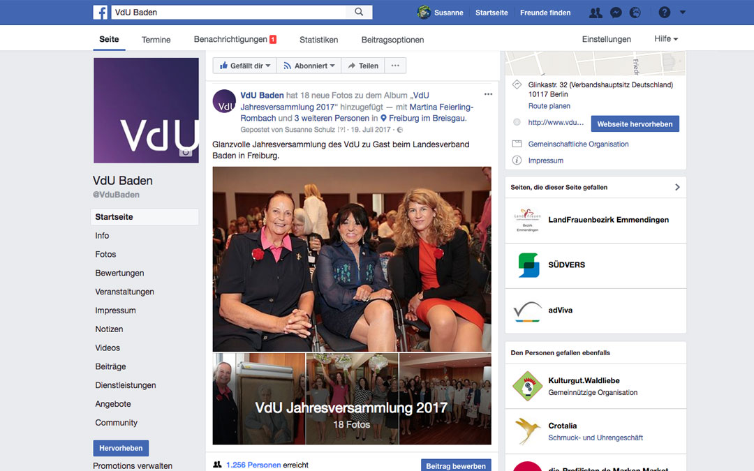 Facebook Fanpage Betreuung